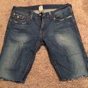 True religion cut off shorts size 36